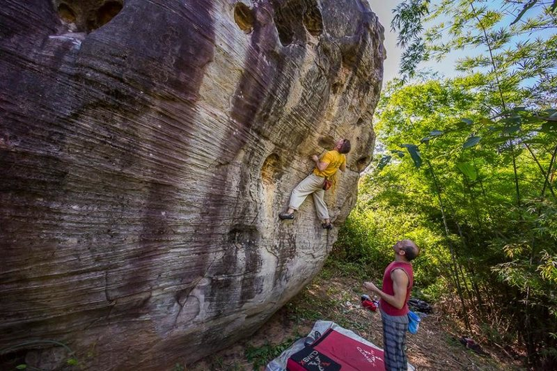 Rock Climbing Photo: Bouldering in Khon Kaen. Great sandstone and more ...