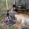 V1 warm up, Gate Keeper boulder