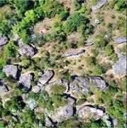 Rock Climbing Photo: Bird eye view of lower meadow area. Lots of boulde...