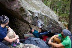 Rock Climbing Photo: Hunter sending! | Tipping Point (V8)