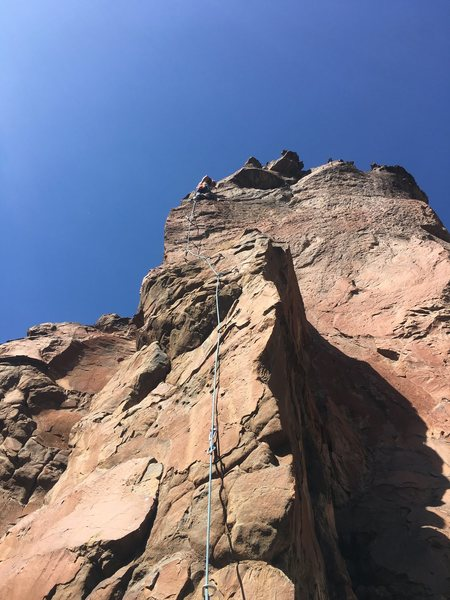 Rock Climbing Photo: Clipped to the anchors and taking in the amazing v...
