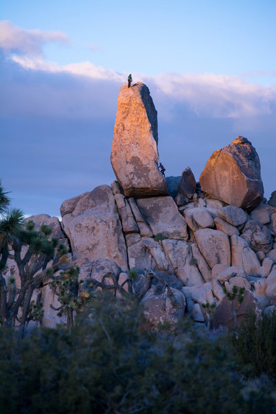 Rock Climbing Photo: sunset on headstone