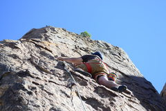 Rock Climbing Photo: Kareem killing it on one of his first leads!!