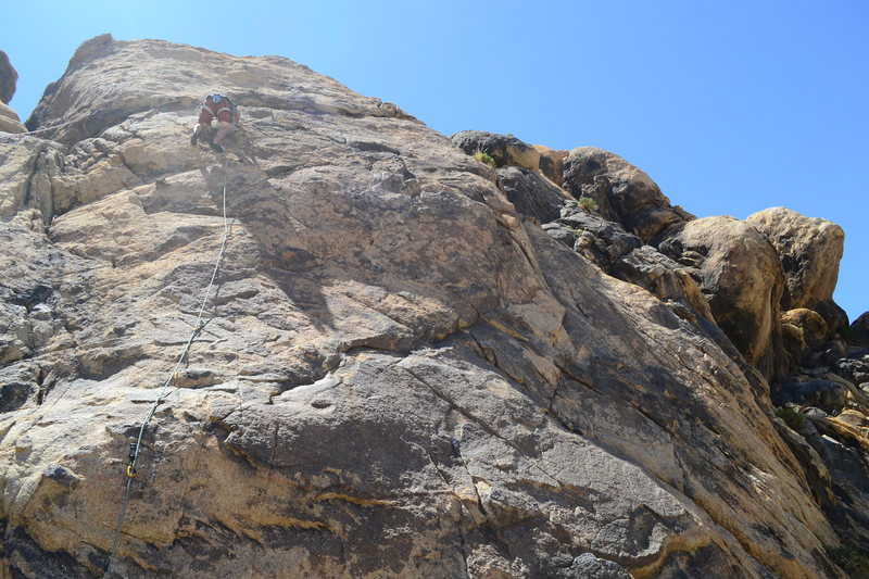 Me leading up EB, must do route!