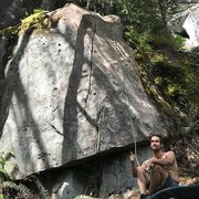 Rock Climbing Photo: Hanging at the base of The Millipede! Photo by Per...