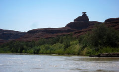 Mexican Hat from the San Juan River. September 2012