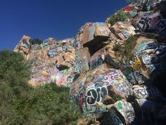 Rock Climbing Photo: This is the current state of Graffiti falls. It co...