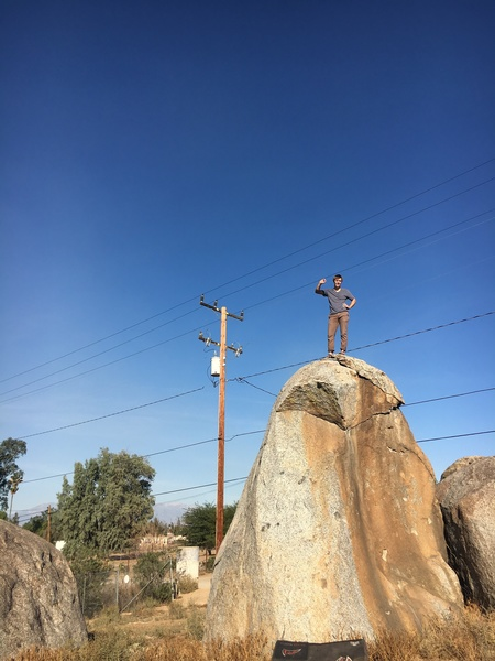 Atop the Stanley Kubrick Boulder