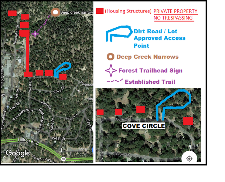 deep creek narrows approach map