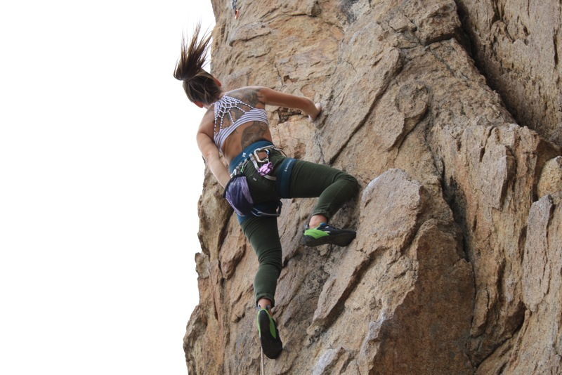 Rock Climbing Photo: Leading bye crackie