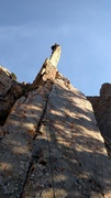 Rock Climbing Photo: There's a man on that chip! The classic belay ledg...