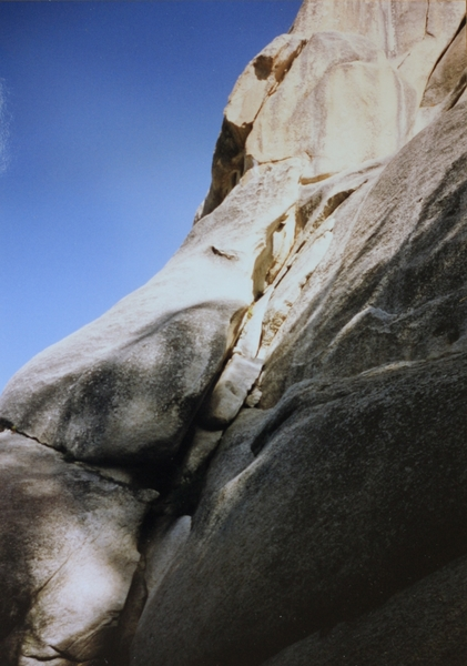 First pitch. First ascent photo.