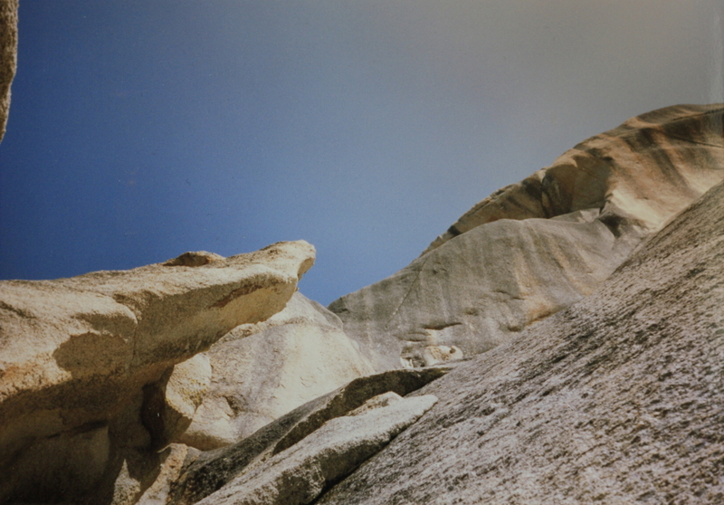 Rock Climbing Photo: The rock one climbs around under to get to the led...
