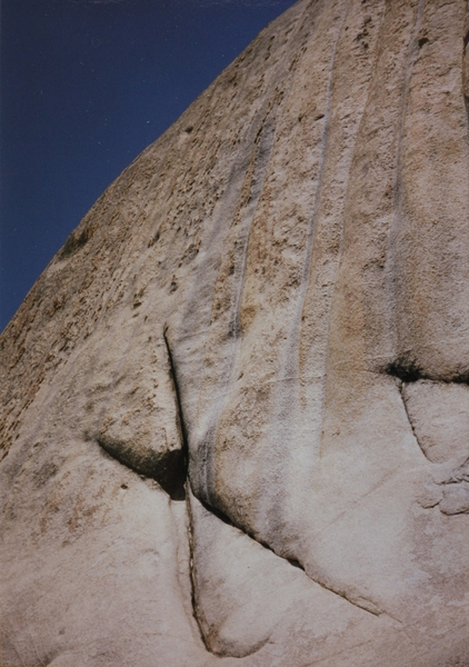 The hardest part of the upper wall low following the horns in between the top part of the X crack,