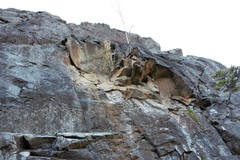 Rock Climbing Photo: Recent rockfall