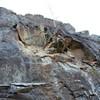 Recent rockfall
