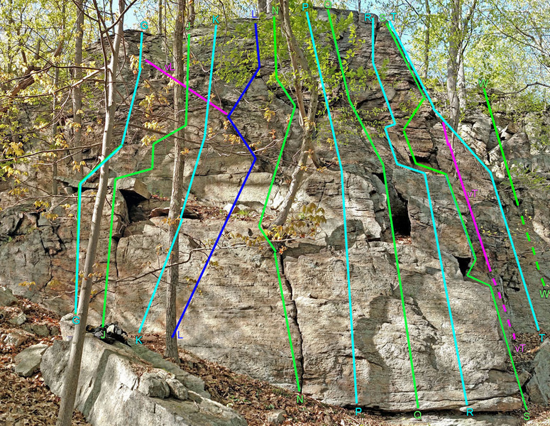 Rock Climbing Photo: Fairy Tales center+right