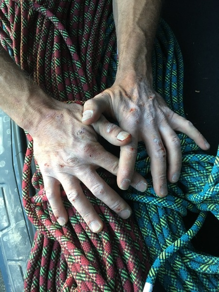 Rock Climbing Photo: crack hands
