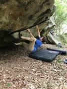 Rock Climbing Photo: Flake up