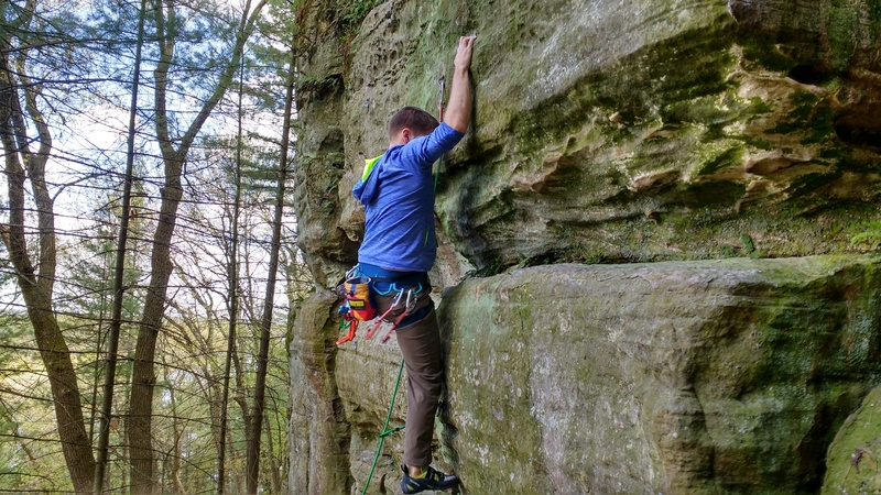 Rock Climbing Photo: Ryan on lead.  Fun route!