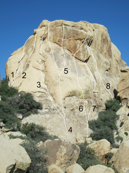 Rock Climbing Photo: North Breezeway Dome- east face 1) Freddie Went O...