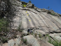 Rock Climbing Photo: The route with a rope.