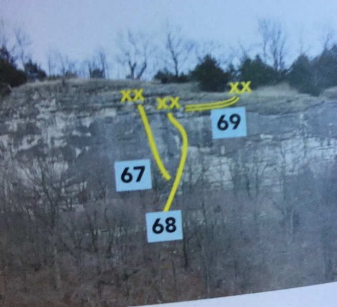 Snip from the guide book. Route is 68.