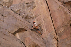 Rock Climbing Photo: Good stemming opportunities to save some energy.