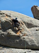 Rock Climbing Photo: Dirk topping out on 13 Warriors.