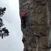 Tony enters the crux of EOF...photo 1 of sequence.