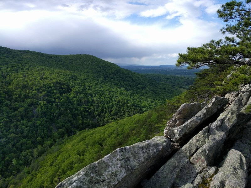 Rock Climbing Photo: From the top of The Bulge. You can walk down along...