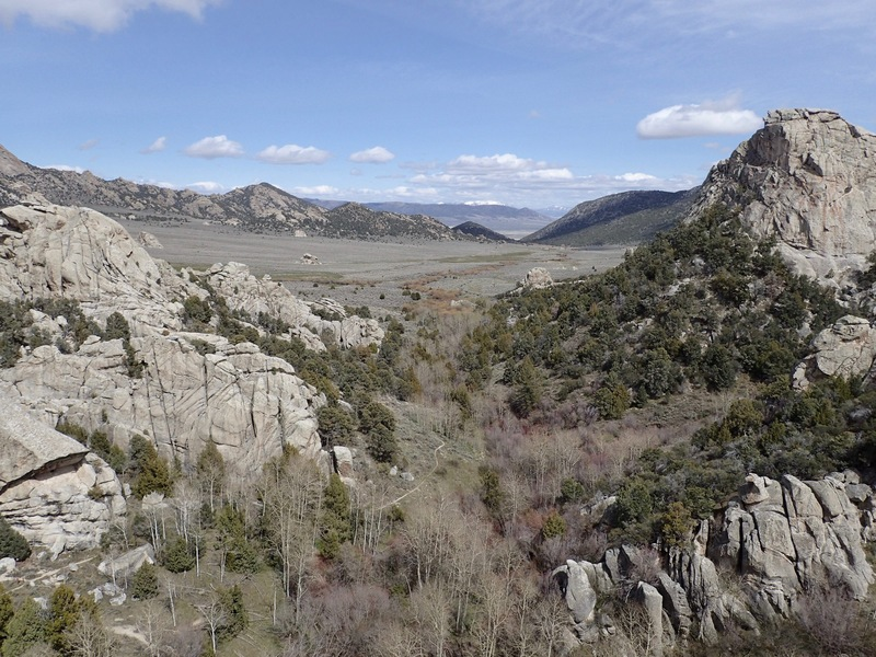 Rock Climbing Photo: View east from the top...