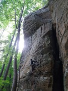 Rock Climbing Photo: Finally able to get on this route. Nice variation ...