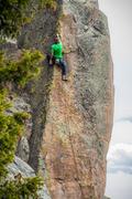 Rock Climbing Photo: The last bit of 5.11 arete climbing with rad posit...