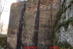Rock Climbing Photo: Relationship Wall. South-facing wall.