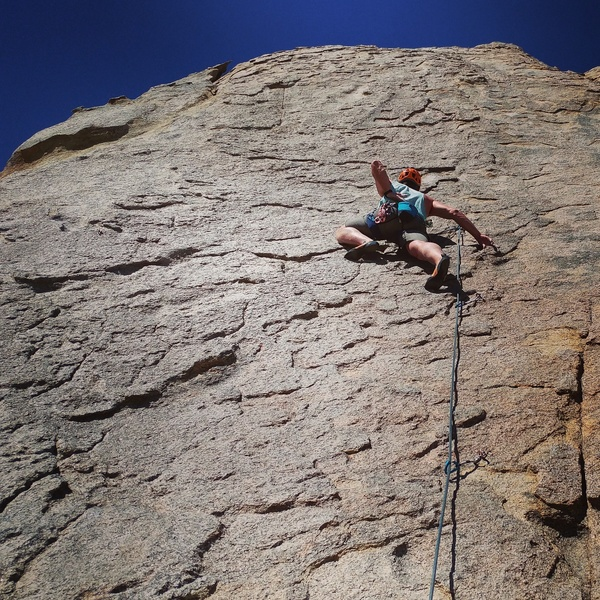 Rock Climbing Photo: Pawel chalking up on one thumb. I guess he found i...