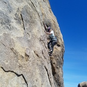 Rock Climbing Photo: Enjoying the step-through down low. This was an ex...