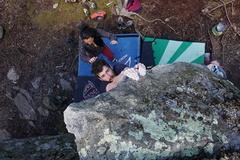 Rock Climbing Photo: Chris on Arrowhead Arete