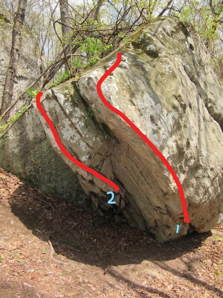Rock Climbing Photo: 1. Rainbow Warrior (V5) 2. Lofos (V2)