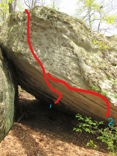 Rock Climbing Photo: 1. Ahab (V6)
