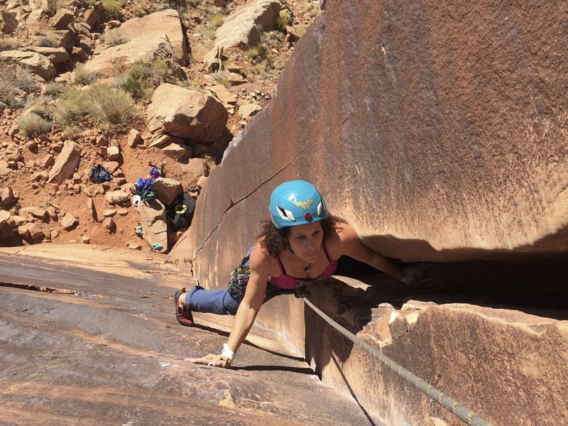 Rock Climbing Photo: Binou's Crack, 5.9 Indian Creek, Moab, UT