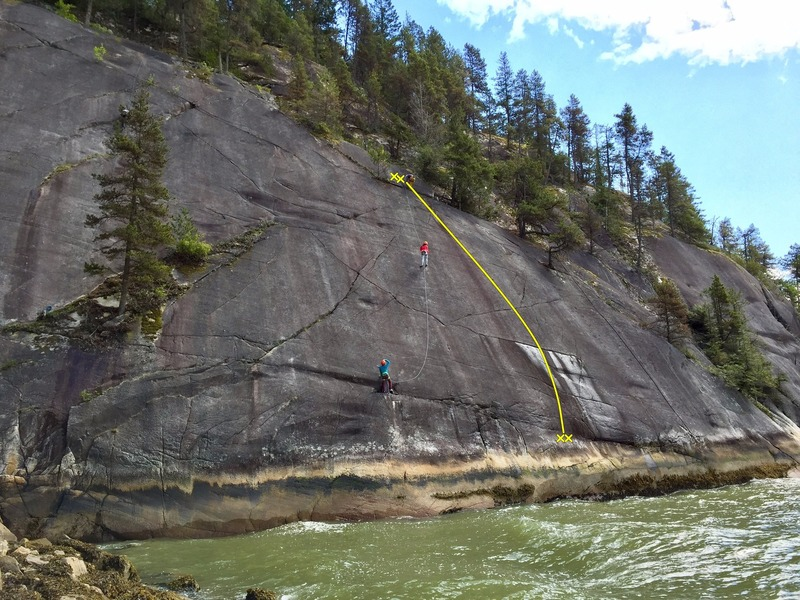 Rock Climbing Photo: Diamond Seas Topo