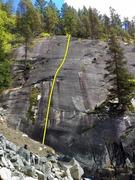 Rock Climbing Photo: Lost Horizon Topo