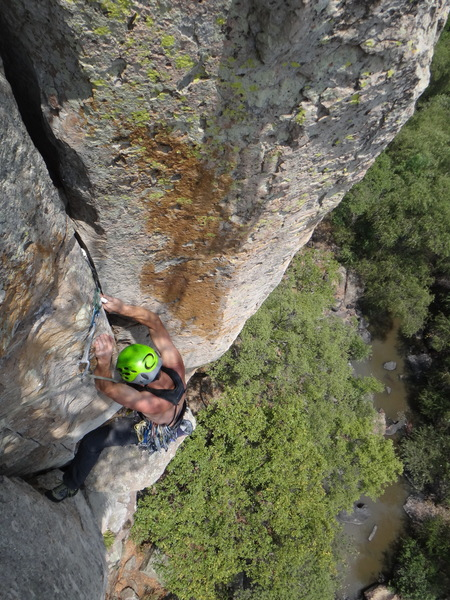 Rock Climbing Photo: Armando Dattoli on the third and last dihedral of ...