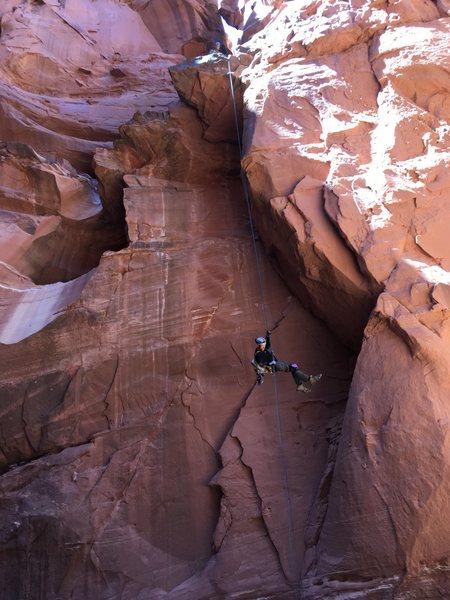Rock Climbing Photo: Bluejohn Rappel