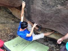 Rock Climbing Photo: Start low