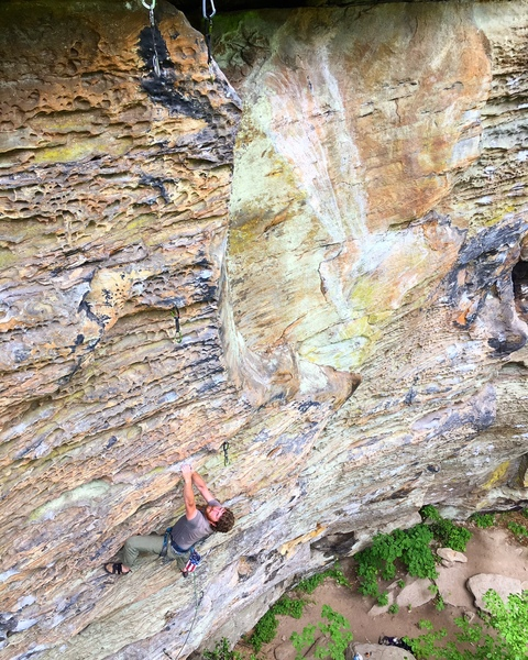 Stellar climbing on the exposed upper arête of BCL