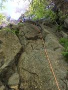 """Rock Climbing Photo: Leading """"warm up"""" 5.6 at love gap. May 2..."""