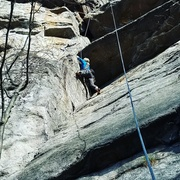 Rock Climbing Photo: Me, trying to be tall here. A couple moves after t...