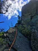 "Rock Climbing Photo: Leading ""Bungle to the jungle"" 5.6. May ..."